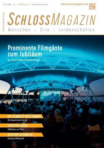 SchlossMagazin Fuenfseenland Juli 2016