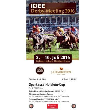 Derby-Meeting 2016 - Rennprogramm 05.07.2016 - Renntag 3