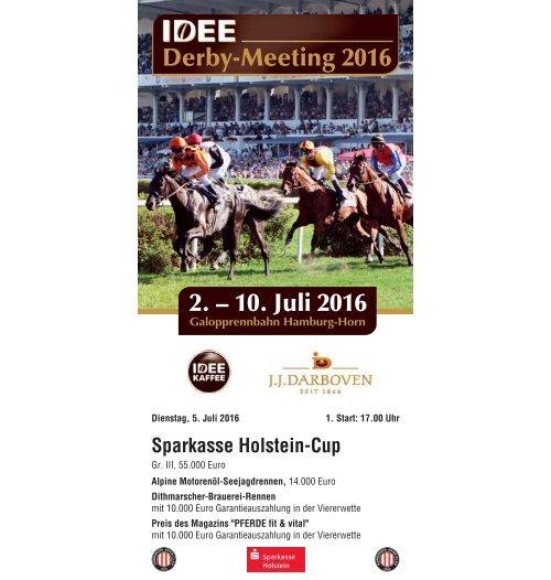Derby-Meeting 2016 - Rennprogramm 05.07.2016 - Renntag 3
