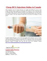 Cheap HCG Injections Online in Canada