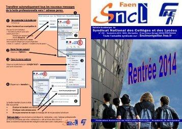 SNCL  bulletin rentrée 7000 exemplaires