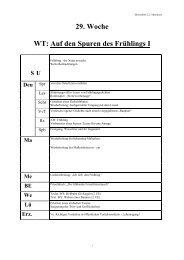 29. Woche WT: Auf den Spuren des Frühlings I - Lehrerweb