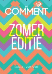 Comment 4: Zomereditie