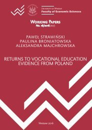 RETURNS TO VOCATIONAL EDUCATION EVIDENCE FROM POLAND