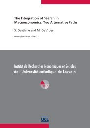 The Integration of Search in Macroeconomics Two Alternative Paths