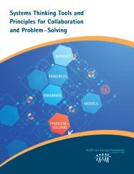 Systems Thinking Tools and Principles for Collaboration and Problem—Solving