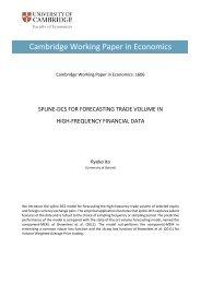 Cambridge Working Paper in Economics
