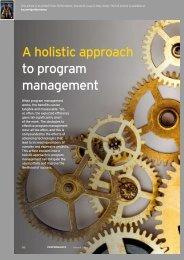 A holistic approach to program management
