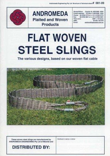 Andromeda Flat Steel Woven Slings Brochure.pdf - Bels