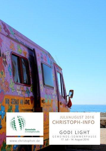 christoph-info Juli/August 2016