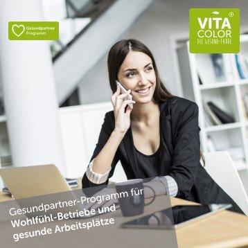 VitaColor Gesundpartner-Programm für Wohlfühl-Betriebe & gesunde Arbeitsplätze