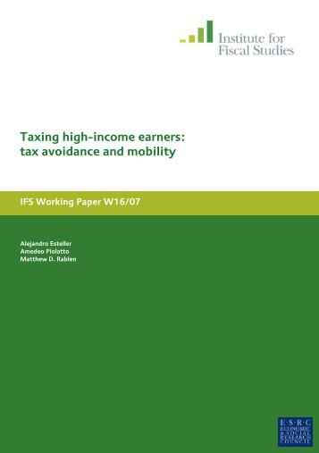 Taxing high-income earners tax avoidance and mobility