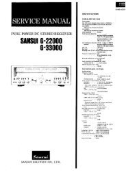 Page 1 SERVICE MANUAL PURE POWER DC STEREO ...