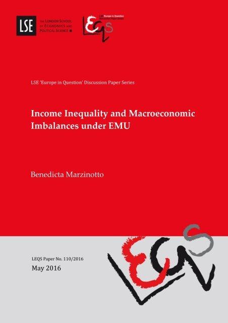 Income Inequality and Macroeconomic Imbalances under EMU