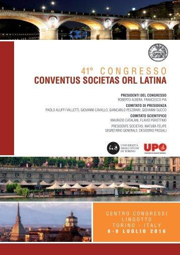 41° CONGRESSO CONVENTUS SOCIETAS ORL LATINA