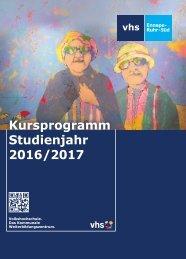 Kursprogramm Studienjahr 2016/2017