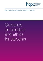 Guidance on conduct and ethics for students