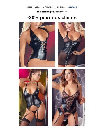 Nouvelle collection lingerie 07/2016