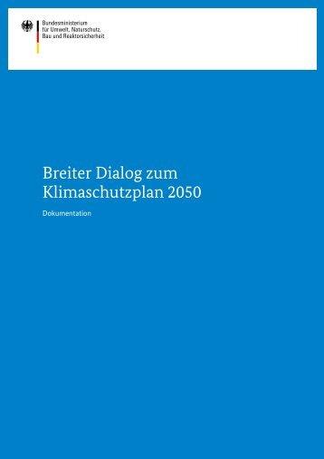 Breiter Dialog zum Klimaschutzplan 2050