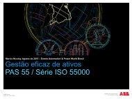 Gestão eficaz de ativos PAS 55 / Série ISO 55000