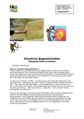 Intuitives Bogenschießen - Gelassen Ziele erreichen