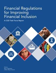 Financial Regulations for Improving Financial Inclusion