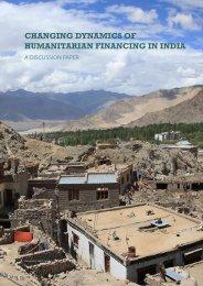 CHANGING DYNAMICS OF HUMANITARIAN FINANCING IN INDIA