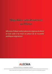 Migration subsaharienne au Maroc ALECMA