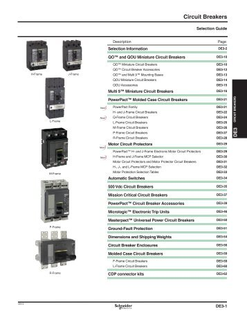 Circuit Breakers - Schneider Electric