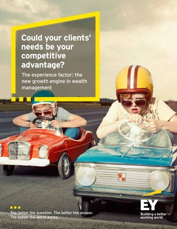 Could your clients' needs be your competitive advantage?