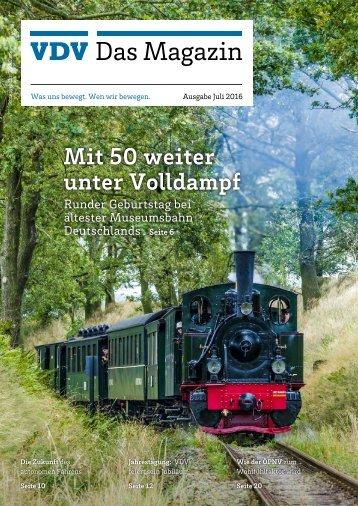VDV Das Magazin Ausgabe Juli 2016