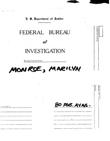 Marilyn Monroe FBI Files (1)