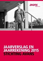 jaarverslag en jaarrekening 2015 stichting avans