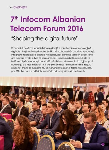 7th Infocom Albanian telecom Forum Overview