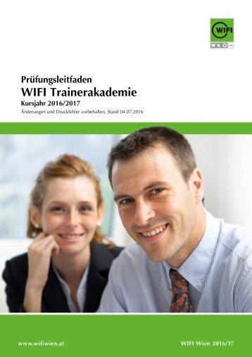 Prüfungsleitfaden: WIFI-Trainerakademie