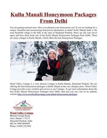 Kullu Manali Honeymoon Packages From Delhi