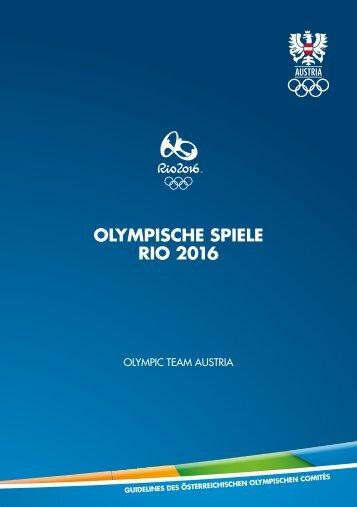 Rio 2016 - Guidelines des Österreichischen Olympischen Comités
