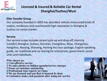 Shanghai Airport Transfer to Different Cities-Book Online