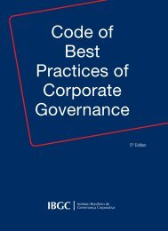 Code of Best Practices of Corporate Governance