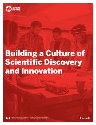 Building a Culture of Scientific Discovery and Innovation
