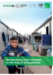 No Way Home Iraq's minorities on the verge of disappearance