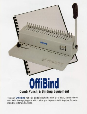 OffiBind-21D Akiles Comb Binding Machine by Printfinish.com