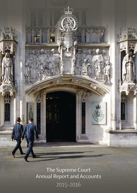 The Supreme Court Annual Report and Accounts 2015–2016