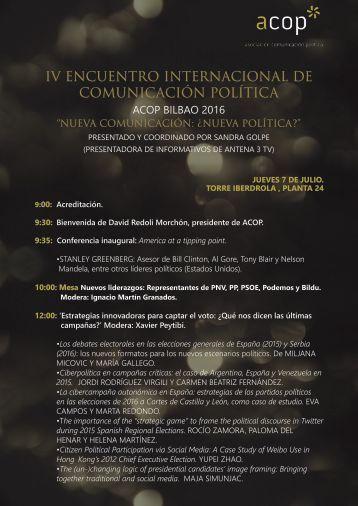 IV ENCUENTRO INTERNACIONAL DE COMUNICACIÓN POLÍTICA
