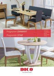 Wohnzimmer- und Esszimmermöbel Diamant & Star von DICO