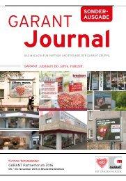 GARANT-Journal Sonderausgabe