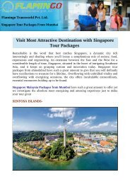 Visit Most Attractive Destination with Singapore Tour Packages