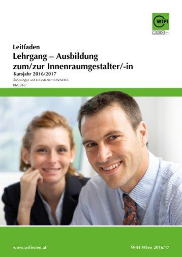 Leitfaden: Lehrgang - Ausbildung zum/zur Innenraumgestalter/-in