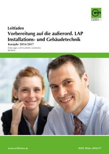Leitfaden: Vorbereitung auf die außerord. LAP Installations- und Gebäudetechnik