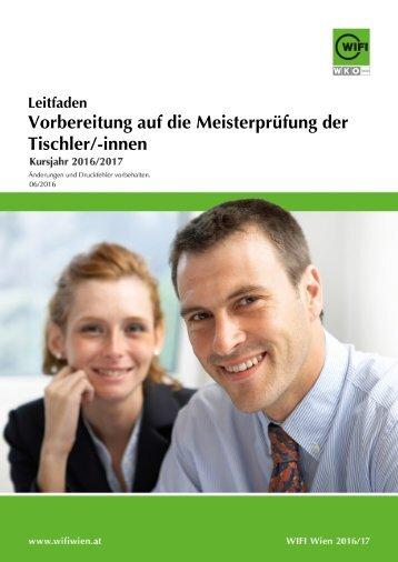 Leitfaden: Vorbereitung auf die Meisterprüfung der Tischler/-innen